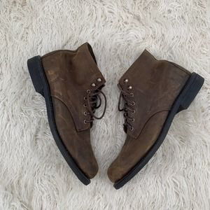 Wolverine Brown Suede Leather Boots Size 11